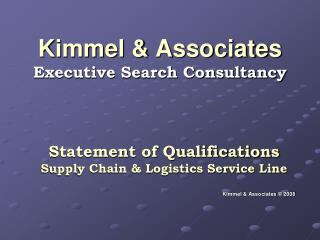 Kimmel & Associates Executive Search Consultancy