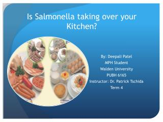 Is Salmonella taking over your Kitchen?