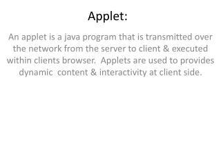 Applet: