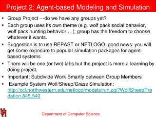 Project 2: Agent-based Modeling and Simulation of Wolf Pack Behavior