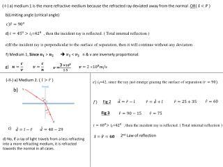 b)Limiting angle (critical angle)