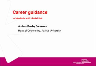 Career guidance - of students  with disabilities