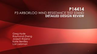 P14414 P3 Arborloo wind resistance test stand Detailed Design Review
