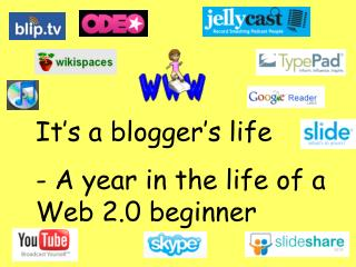 It's a blogger's life - A year in the life of a Web 2.0 beginner