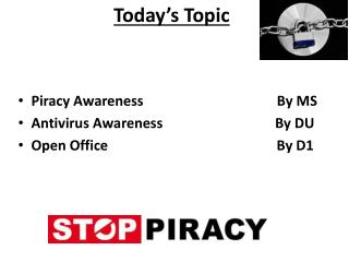 Piracy  Awareness                                      By MS