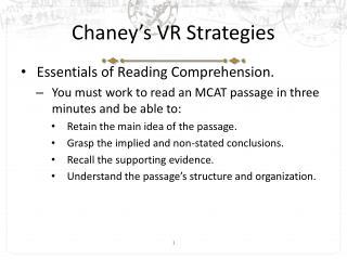 Chaney's VR Strategies