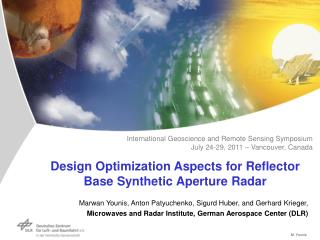 Design Optimization Aspects for Reflector Base Synthetic Aperture Radar