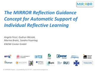 The MIRROR Reflection Guidance Concept for Automatic Support of Individual Reflective Learning