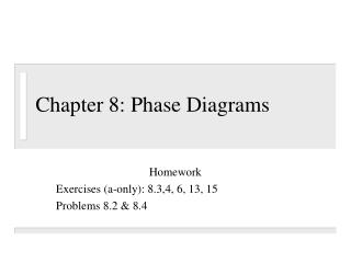 Chapter 8: Phase Diagrams