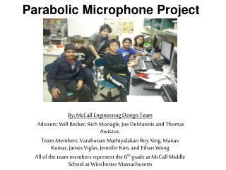 Parabolic Microphone Project