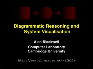 Diagrammatic Reasoning and   System Visualisation