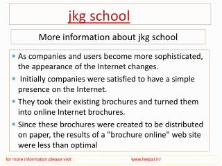 Now get the latest updates and news jkg school