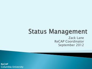 Status Management