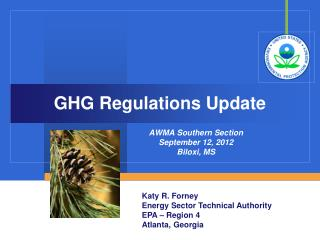 GHG Regulations Update