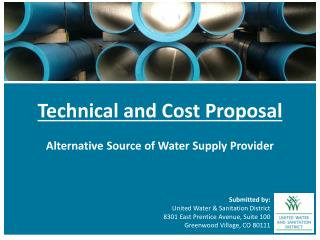 Technical and Cost  Proposal Alternative Source of Water Supply Provider