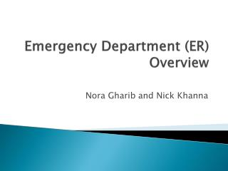 Emergency  Department (ER) Overview