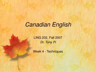 Canadian English