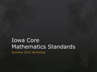 Iowa Core Mathematics Standards