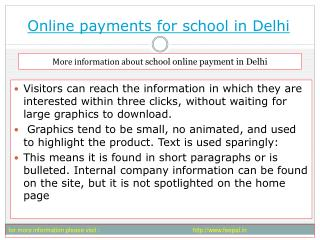 Now you can open an online payment for school in delhi accou