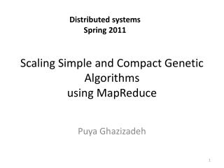 Scaling  Simple  and  Compact Genetic Algorithms using  MapReduce