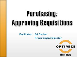 Purchasing:  Approving Requisitions