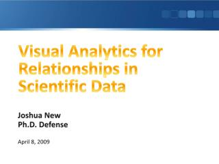 Visual Analytics for Relationships in Scientific Data