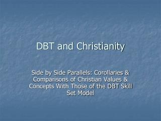DBT and Christianity