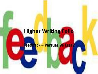 Higher Writing Folio