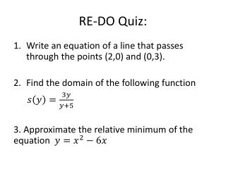 RE-DO Quiz: