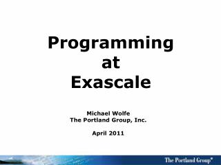 Programming at Exascale