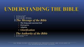 Understanding The Bible