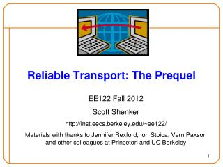 Reliable  Transport: The Prequel