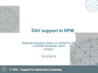 DAV support in DPM