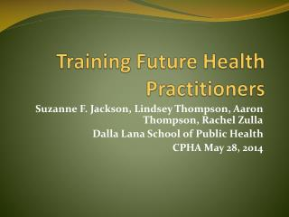 Training Future Health Practitioners