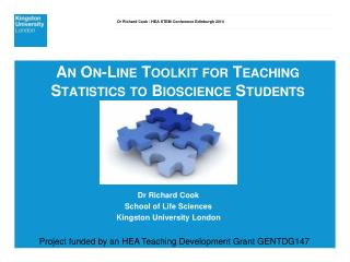An On-Line Toolkit for Teaching Statistics to Bioscience Students