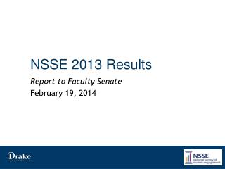 NSSE 2013 Results