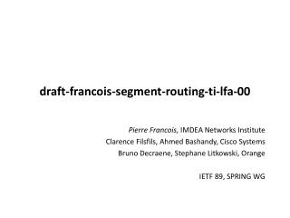 draft-francois -segment-routing-ti-lfa- 00