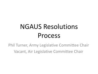 NGAUS Resolutions Process