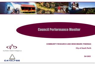 Council Performance Monitor