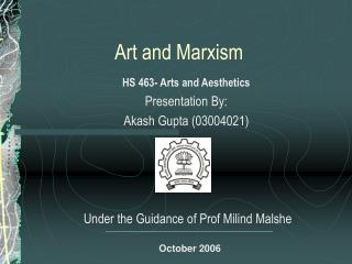 Art and Marxism