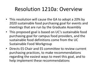 Resolution 1210a: Overview