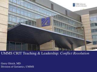 Conflict  Resolution: The  Role of the Chief Resident