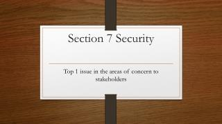 Section 7  Security