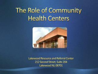 The Role of Community Health Centers
