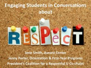 Engaging Students in Conversations about
