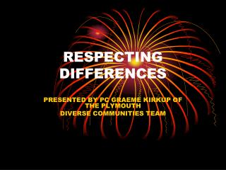 RESPECTING DIFFERENCES