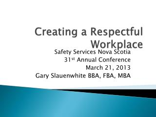 Creating a Respectful Workplace