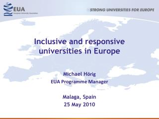 Inclusive and responsive universities in Europe