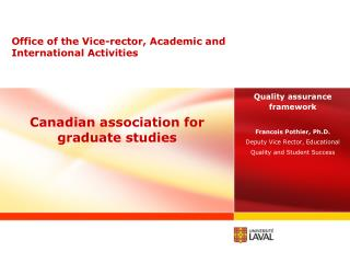 Canadian association for graduate studies