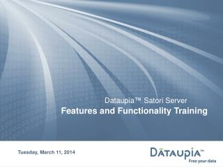 Features and Functionality Training